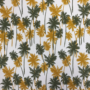 100% Cotton Poplin - Golden Palm - Sold By Half Metre