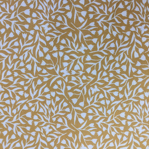 100% Cotton Poplin - Gold Tulips