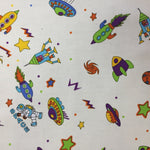 100% Cotton Poplin - Spaceships