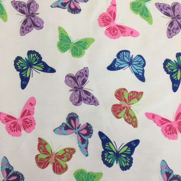 Polycotton Print Children's - Butterfly Purple