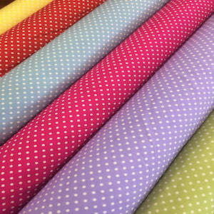 100% Cotton Poplin Spot - Select Colour