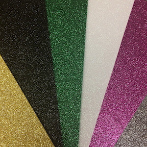 Glitter Felt Squares - Select Colour