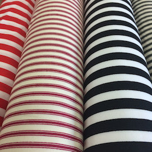 100% Cotton Poplin Stripes - Select Colour - Sold by Half Metre