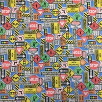Polycotton Print Children's - Road Works