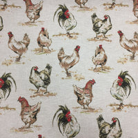 100% Cotton Canvas - Chickens