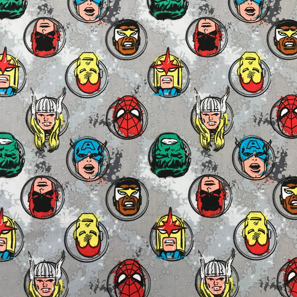 100% Cotton - Marvel - Faces
