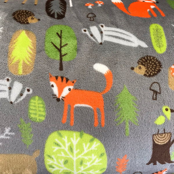 Super Soft Fleece - Woodland Creatures