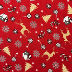 100% Cotton Christmas - Christmas House - Red