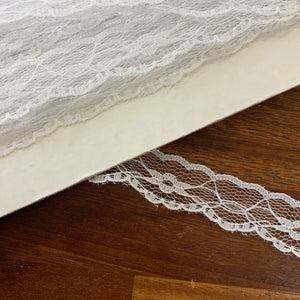 White Scalloped Lace Trim