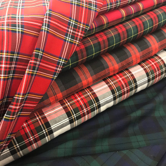 Polyviscose Tartan - Select Colour