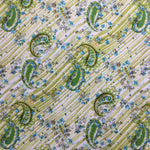 100% Cotton Poplin - Green Paisley
