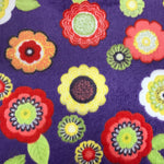 Super Soft Fleece - Flower Power - Purple