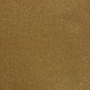 100% Cotton Christmas - Glitter Print - Gold