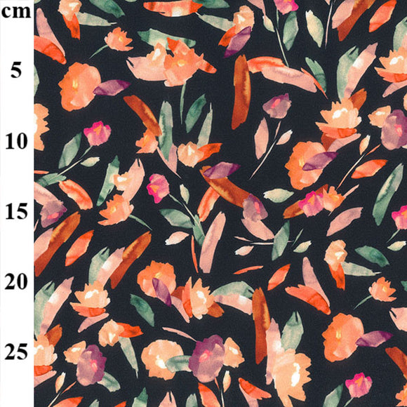 Digital Jersey - Abstract Floral  - Sold By Half Metre