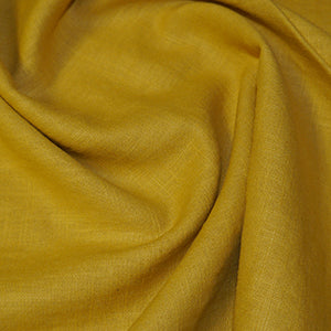 100% Linen - Gold - Sold by Half Metre