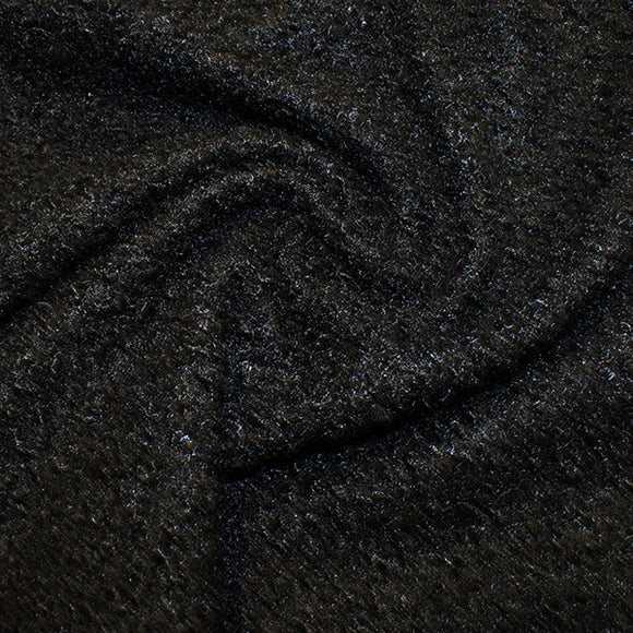 Boucle - Black - Sold By Half Metre