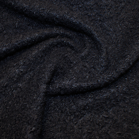 Boucle - Navy Blue - Sold By Half Metre
