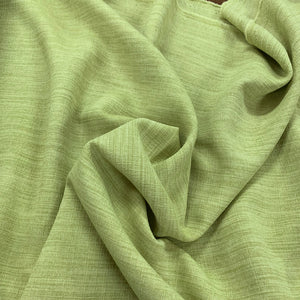 Linen Look Poly - Lime  - Sold By Half Metre