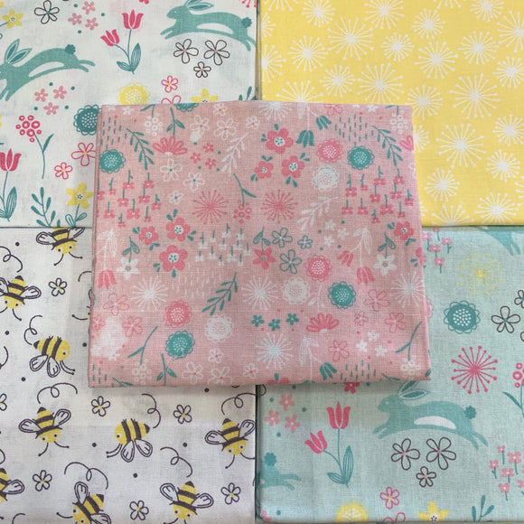 100% Cotton Fat Quarters - Leap Into Spring