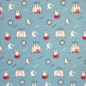 SALE - 100% Cotton - Miffy - Bedtime Blue - Sold by Half Metre