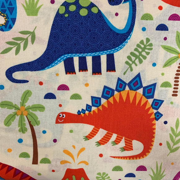 100% Cotton  - Dino Land - Sold by Half Metre