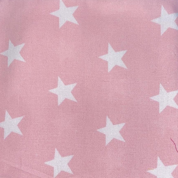 100% Cotton Fat Quarter - Baby Pink Star