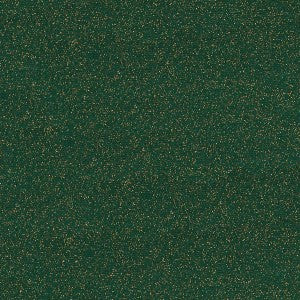 100% Cotton Christmas - Glitter Print - Green