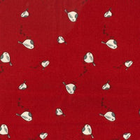 100% Cotton Christmas - Robin - Red