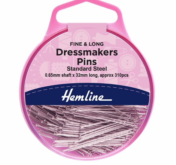 Dressmakers Pins - Fine and Long