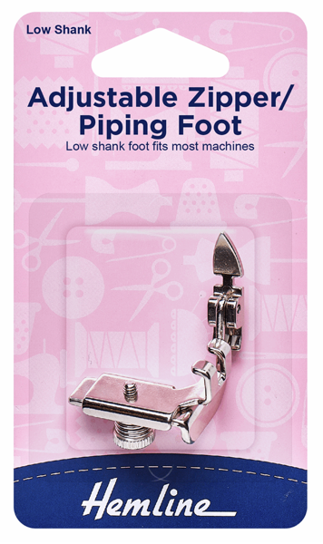 Adjustable Zipper/Piping Foot