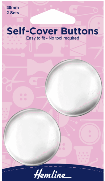 Self-Cover Buttons 38mm