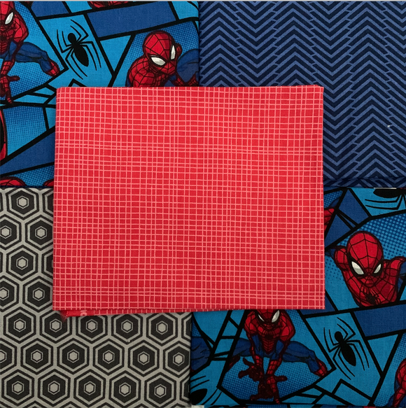 100% Cotton Fat Quarters - Spiderman