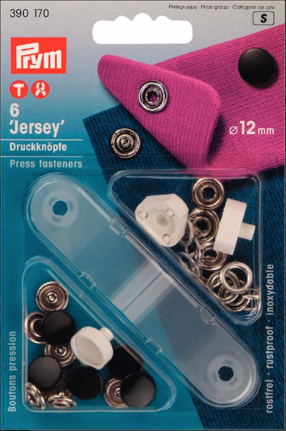 Non-Sew Snap Fasteners - Jersey 12mm Wide