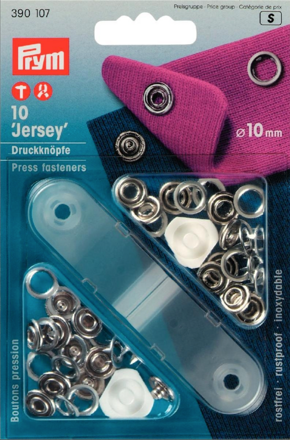 Ring Top Jersey Poppa Fasteners