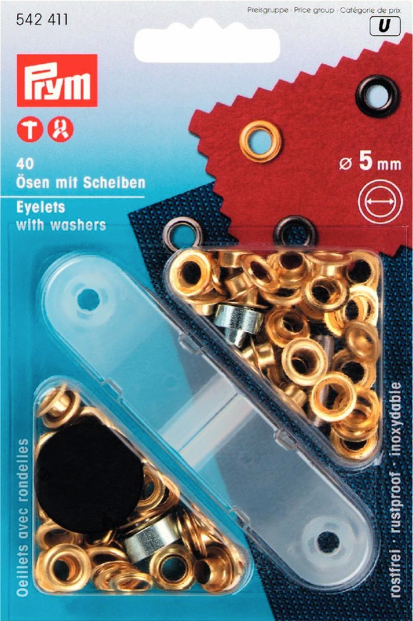 5mm Eyelets With Tool - Gold