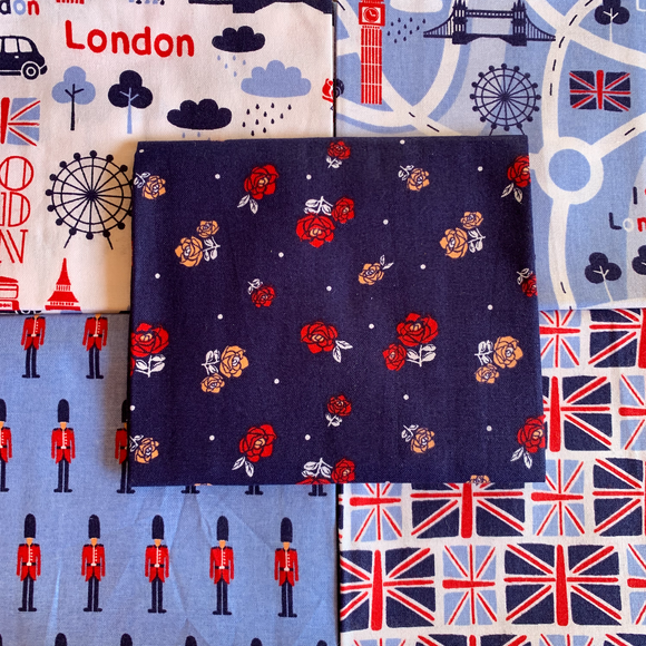 100% Cotton Fat Quarters - London Town