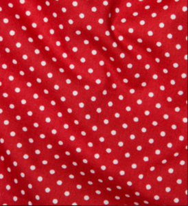 100% Cotton  - Poplin Spot Red - Sold by Half Metre