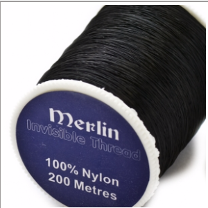 Invisible Nylon Filament Thread 200m - Smoke/Clear