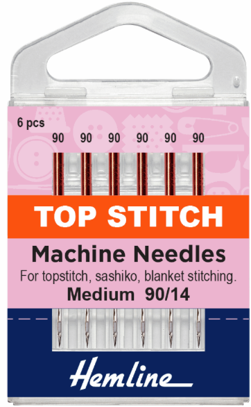 Machine Needles - Top Stitch 90/14