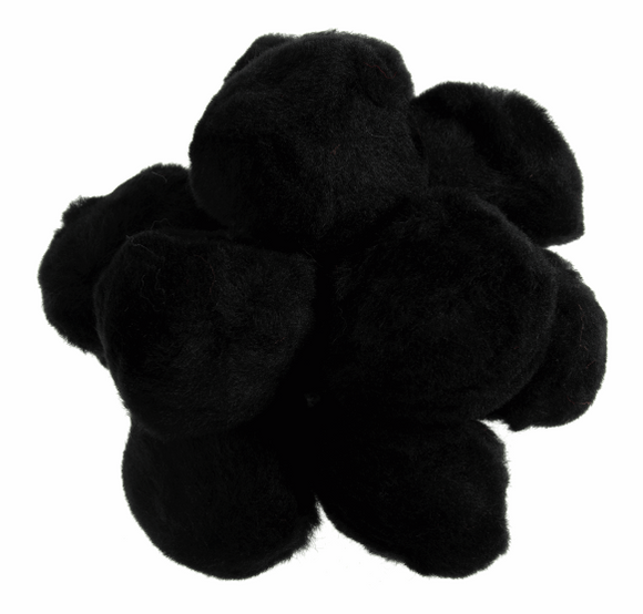 Black 50mm Pom Poms