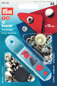 Anorak Press Fasteners 15mm