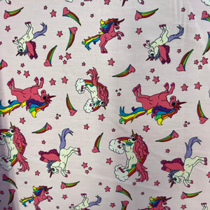 SALE 100% Cotton  - Unicorns - Pink - Sold by Half Metre