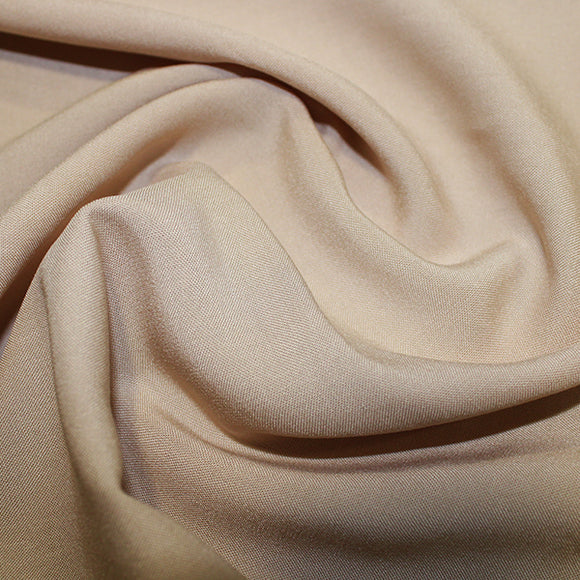 100% Viscose - Beige - Sold By Half Metre