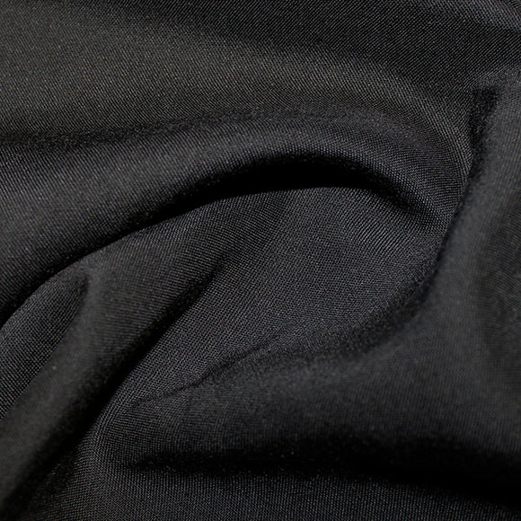 100% Viscose - Black - Sold By Half Metre