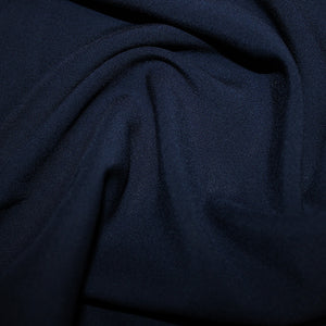 100% Viscose - Navy - Sold By Half Metre