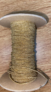 1 Cord (1mm Wide) Elastic - Metallic Gold