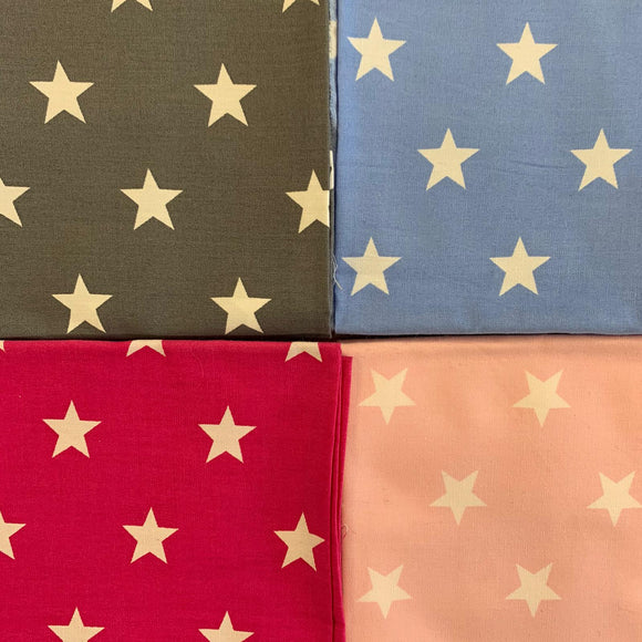 100% Cotton Fat Quarters - Stars