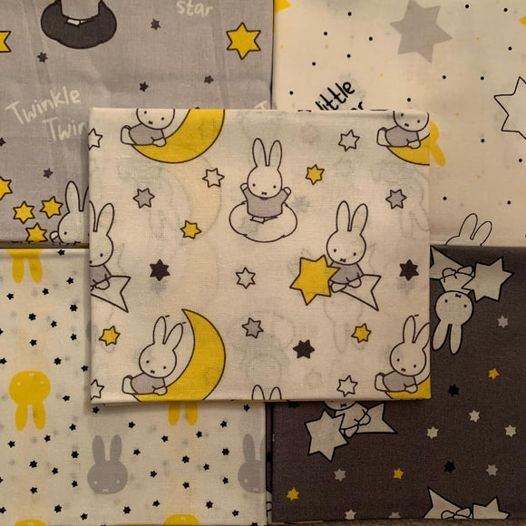 100% Cotton Fat Quarters - Miffy Twinkle