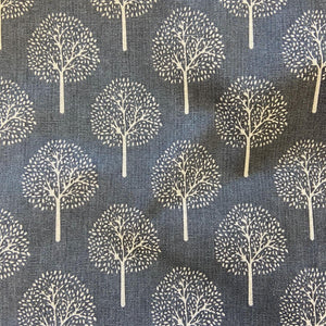 Cotton Canvas - Trees - Grey / Natural - Sold by Half Metre