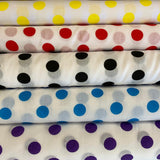 Polycotton Print - Large Spots - Select Colour - Clearance - Sold by Half Metre